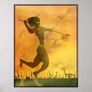 Lion Warrior Poster