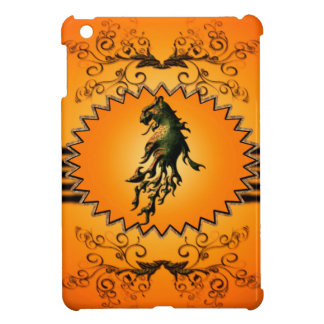 Lion with flame iPad mini cases