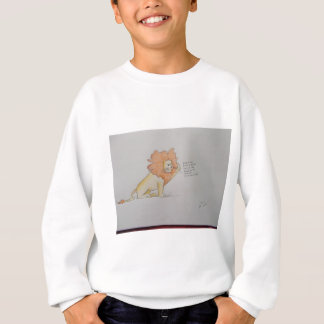 Lion with funny caption relating to hair sweatshirt
