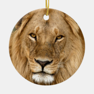 Lion With Great Mane Christmas Ornament