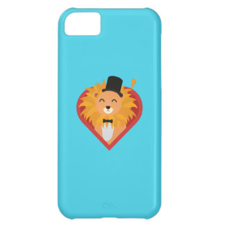 Lion with Hat in heart Q1Q iPhone 5C Case
