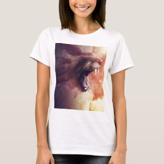 lion with mouth open digital art T-Shirt