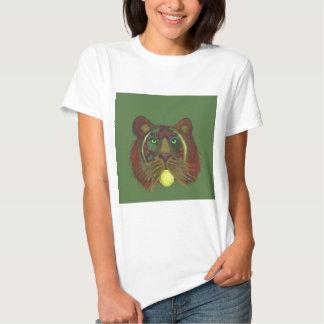 Lion with tennis ball t shirt