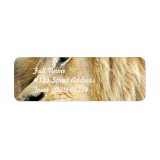 Lion with Thick Mane Mailing Labels
