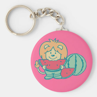 Lion with Watermelon Tshirts and Gifts Key Chain