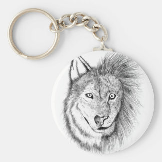 Lion Wolf Key Ring