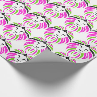 Lion Wrapping Paper (Pink and Green)