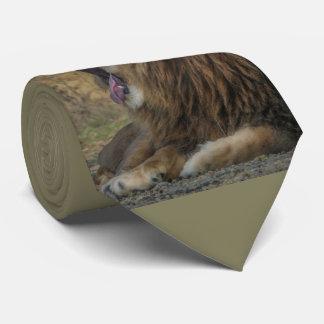 Lion Yawn Tie-Necktie yawn lion Tie