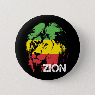 Lion Zion 6 Cm Round Badge