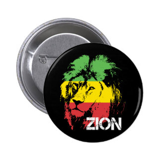 Lion Zion 6 Cm Round Badge