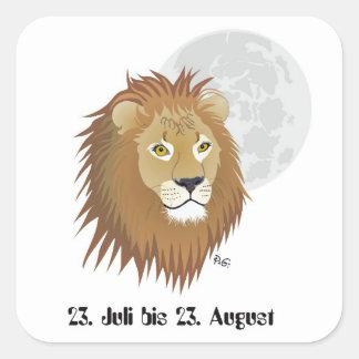 Lion - zodiac sticker