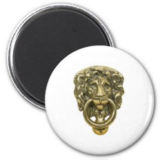 LionDoorKnocker072509 6 Cm Round Magnet