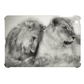 Lioness and son sitting and nuzzlingin Botswana iPad Mini Case