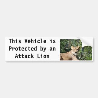 Lioness Car Bumper Sticker
