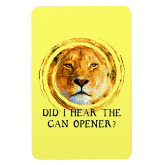 LIONESS ... CAN OPENER Magnet Rectangular Magnets
