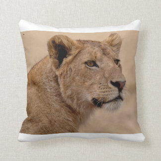 Lioness Face Throw Pillow Cushion