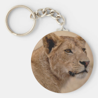 Lioness head closeup key ring