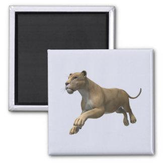 Lioness Refrigerator Magnet