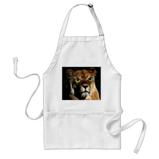 Lioness on Watch Aprons