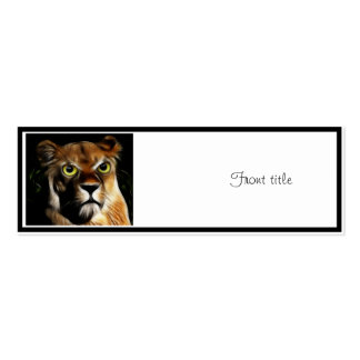 Lioness on Watch Business Card Templates