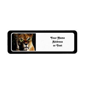 Lioness on Watch Return Address Label