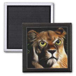 Lioness on Watch Refrigerator Magnet