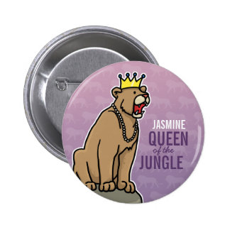 Lioness Queen of the Jungle, Add Child's Name 6 Cm Round Badge