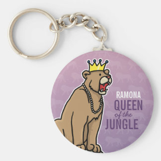 Lioness Queen of the Jungle, Add Child's Name Key Ring
