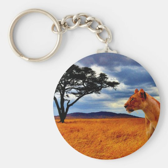 Lioness Storm Basic Round Button Key Ring