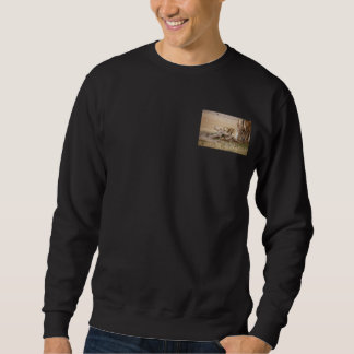Lioness stretching sweatshirt