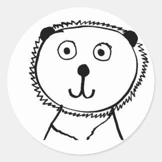 Lionet Round Sticker
