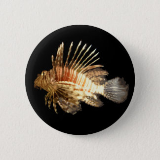 Lionfish 6 Cm Round Badge