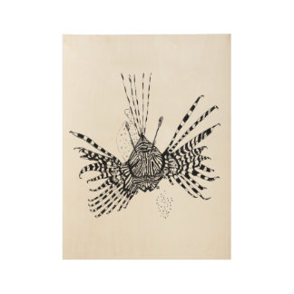 Lionfish Poster Wood Poster