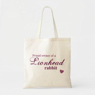 Lionhead rabbit tote bag