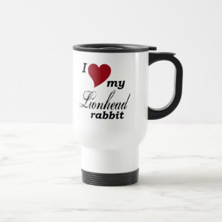 Lionhead rabbit travel mug