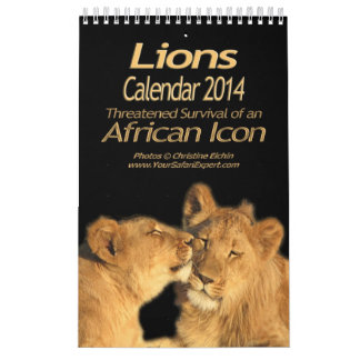 Lions - African Icon Calendar 2014 (Single Page)