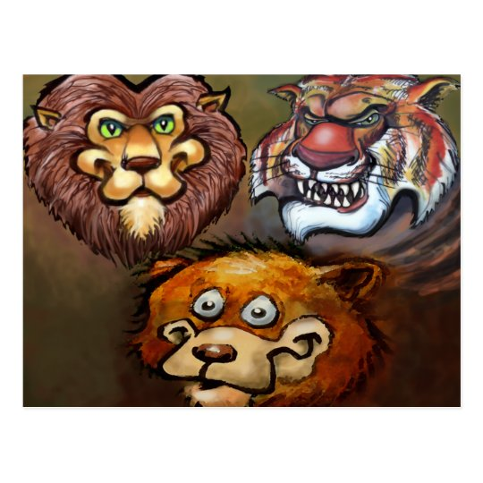 Lions and Tigers and Bears Oh My! Postcard