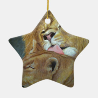 Lions Ceramic Star Decoration