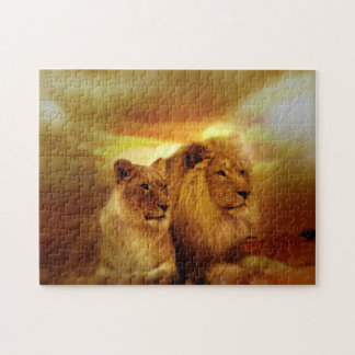 Lions Couple Jigsaw Puzzle