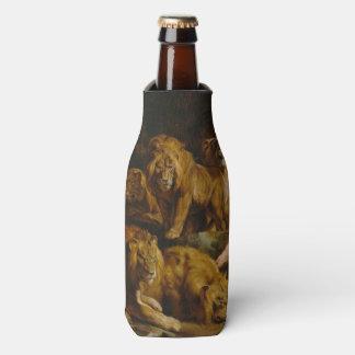 Lions' Den art bottle cooler