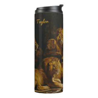 Lions' Den custom name tumbler Thermal Tumbler