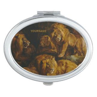 Lions' Den custom pocket mirror Makeup Mirrors