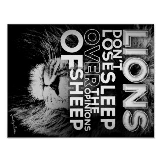 Lions don't lose sleep over the opinions of sheep poster