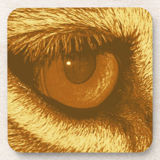 Lions Eye, Brown and Yellow Pastel Coasters