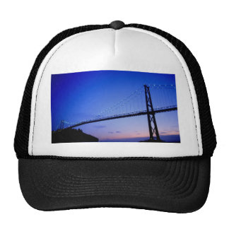 Lions Gate Bridge, at dusk, Vancouver, British Col Trucker Hat