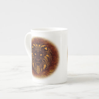 Lion's Head Bone China Mug