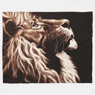Lions Head Fleece Blanket