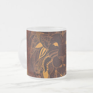 Lion's Head Frosted 10 oz Frosted Glass Mug