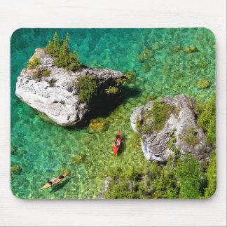 Lions Head Kayakers Mouse Pad