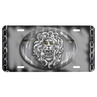 lion's head license plate